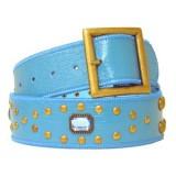 Belt - Jeweled Studded Belt  - Blue Color - BLT-CB17925BL