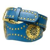 Belt -  Leather -Like Metal Studded Belt  - BLT-TO40036GN
