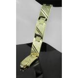 14K Gold Plating Chain Bracelet w/ Fold Closure - BR-YI402D