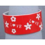 Bangle - Overlayer Love Bangle - Acrylic - Red - BR-OB00153RED