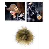 Brooch – Faux Fur Pom-Pom Pin - BC-MP-1NT