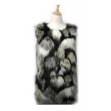 Cardigans & Vests - Faux Long Fur Vest – Multi Color