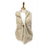 Cardigans & Vests - Faux Sheep Fur Vest w/ Hood
