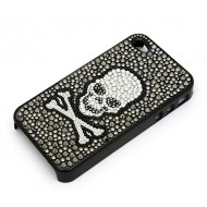 Cell Phone Cover - IPhone - Jeweled Skull - PH-HX00078