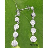 Earrings - 925 Sterling Silver w/ CZ - Journey Collection - ER-PER8684CL