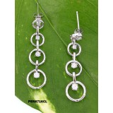 Earrings - 925 Sterling Silver w/ CZ - Journey Collection - ER-PER8716CL