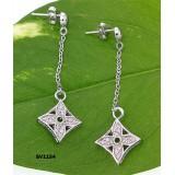 925 Sterling Silver/ Designer Inspired Earring Set - ER-SV1154CL