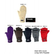 Gloves - Knitted Convertible Fingerless - Thinsulate - GL-11kg004