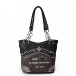 Bible Verse Western Style Bucket Bag - Black