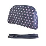 Denim Pink Star Cosmetic Bag - BG-020CPK