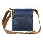Nylon Messenger Bag - Navy
