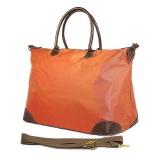Nylon Large Shopping Tote w/ Nylon Shoulder Strap - Orange - BG-HD1294OG