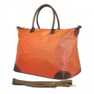 Nylon Large Shopping Tote w/ Nylon Shoulder Strap - Orange - BG-HD1294OG