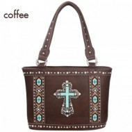 Western Spiritual Collection Handbag - Cross Charm Tote