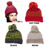 Beanie Caps - Knitted with Pom Pom - HT-123