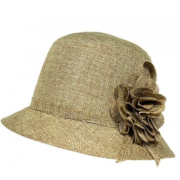 5cf35d027ff ON SALE! -  9.99 - Straw Bucket Hats w  Flower - Khaki - HT-HT2332KA ...