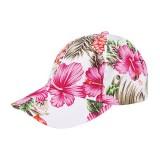 Baseball Cap- Tropical Flower Print – Cotton - Pink - HT-7655G-PK