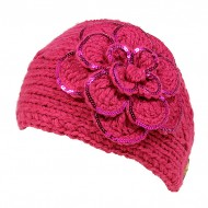 Headwraps / Neck Warmer : Crochet w/ Sequined Trim - Hot Pink Color - HB-35-HPK
