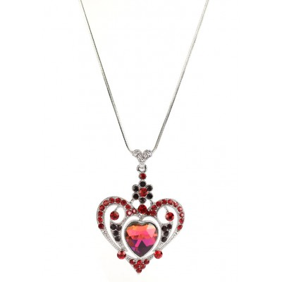 Necklace - Swarovski Crystal Heart Necklace - NE-N2653RD