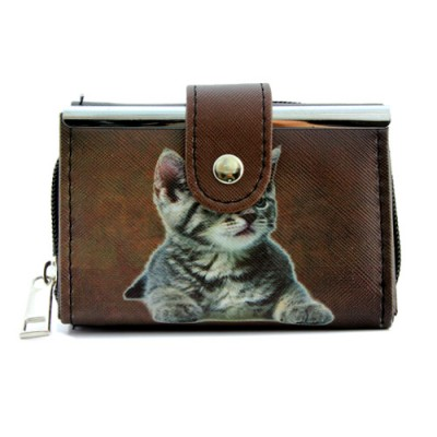 Tri-Fold Wallet - Kitty Print - WL-197CAT1-1