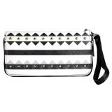Wallet - Aztec Print Zippered Around with Wristlet - Black - WL-TRO5064BK