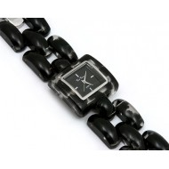 Lady Watch - Acrylic Link Band - Black - WT-L80020BK