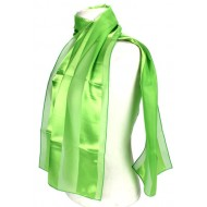 Scarf - Satin Solid - Stripes - Lime