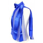 Scarf - Satin Solid - Stripes - Royal Blue