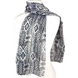 Scarf - Geo Mix Prints - SF-AO1814BK