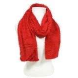 Scarf - Chenille -Red Color - SF-S1325RD