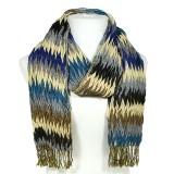 Scarf - Fabric -Scarf - Zigzag Print Scarf - Blue - SF-SF2506BL