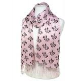 Scarf - Fleur De Lis Print  Shawl - Pink Color - SF-SHL1704PK