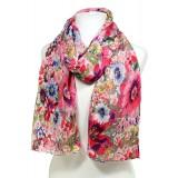 Scarf - Fabric Scarf - Floral Print -  Pink - SF-SSF25106PK