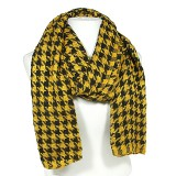 Scarf - Houndstooth Print - Yellow - SF-TSF51489YL