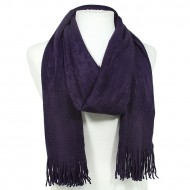 Scarf - Solid Color w/ Fringers - Purple - SF-VS0192PU