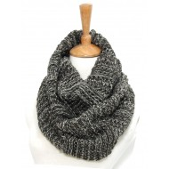 Infinity Scarf - Ribbed Knitted
