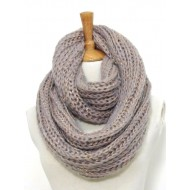 Infinity Scarf - Knitted Chain w/ Glittery Thread