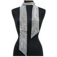 Scarf - Double-side Metallic Foil Scarf - Light Silver - SF-SFS107102